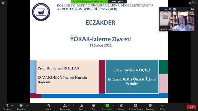 YÖKAK'tan ECZAKDER'e Yıllık İzleme Ziyareti